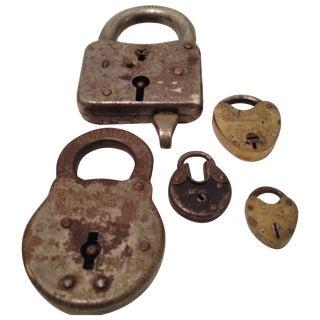 Assorted Antique Locks - Set of 5