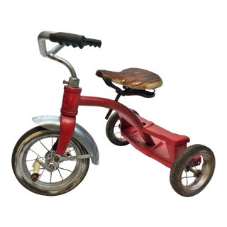 Vintage Rustic Red Metal Child's Tricycle