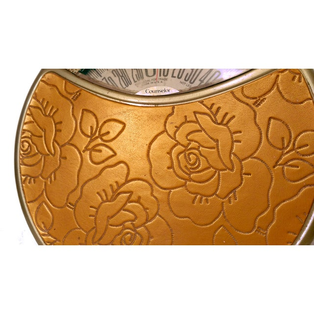 Vintage Counselor Gold Vinyl Rose Bathroom Scale - Image 3 of 6