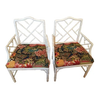 Jonathan Adler Chippendale Armchairs - A Pair