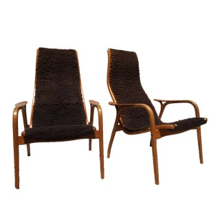 Swedese Swedish Lamino Lounge Chairs - A Pair