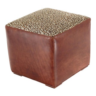 High Grade Quality Italian Leather Ottoman