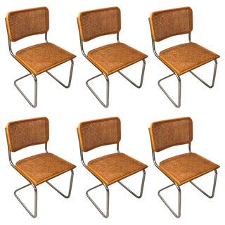 Vintage Italian Cesca Caned Chairs - Set of 6