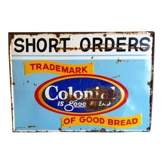 Vintage Original Advertising Sign - Colonial Bread
