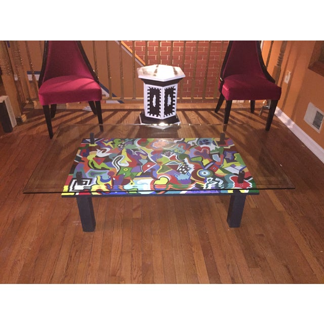 Hand Crafted And Painted Coffee Table Chairish