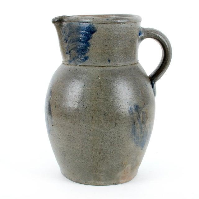 Image of Circa 1870 Baltimore Floral Stoneware Pitcher