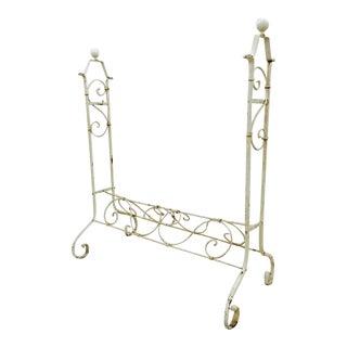 Vintage White Iron Stand