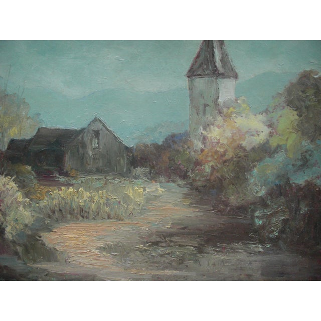 Landcape Painting of Rustic Village - Image 3 of 3