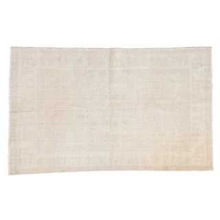 Distressed Oushak Rug - 4' X 6'3""