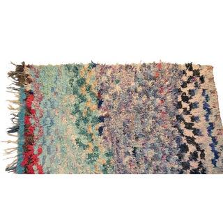 """Vintage Boucherouite Carpet - 5'3"""" X 3'1"""""""