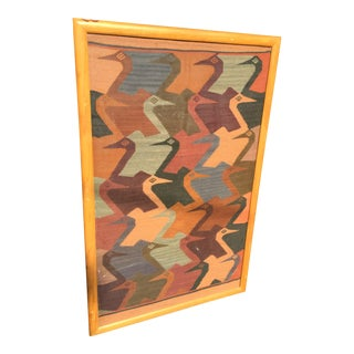 Tribal Wool Weaving Framed Art Rug