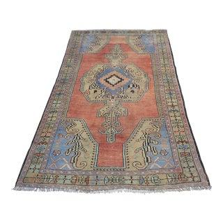 Anatolian Vintage Wool Rug - 3′10″ × 7′4″