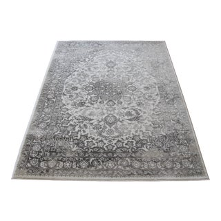 "Distressed Medallion Gray Rug - 5'3"" x 7'7"""