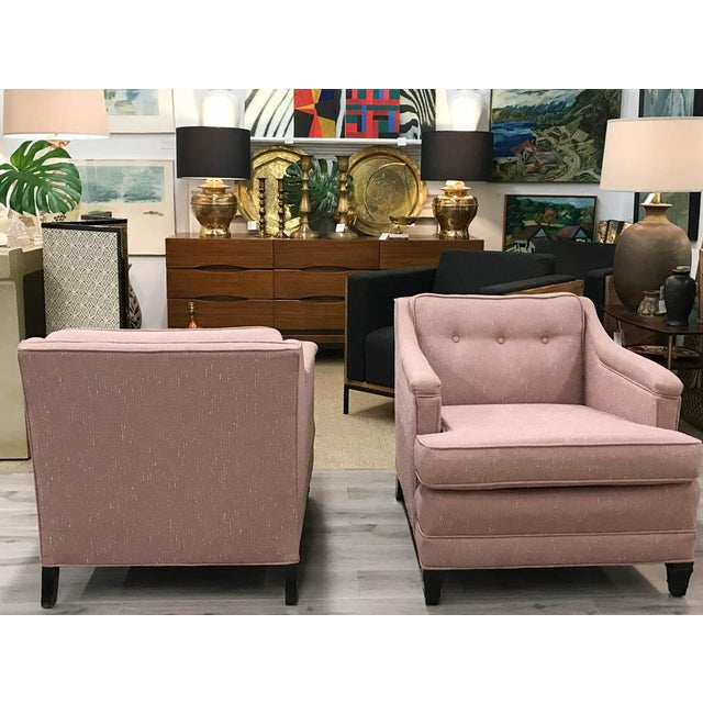 Mid-Century Transitional Club Chairs - A Pair - Image 3 of 8