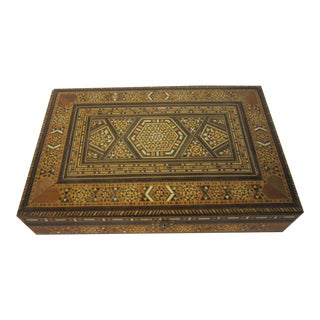 Turkish Brown Mosaic Box