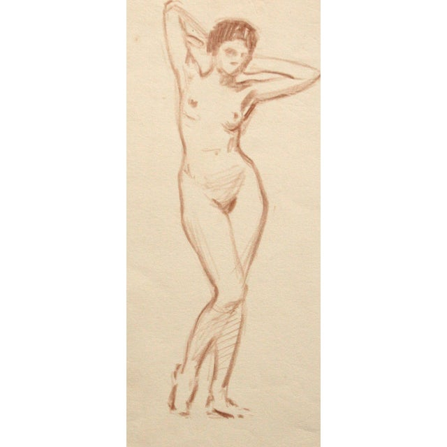 Charcoal Nude Drawing by Joseph Mason Reeves Jr. - Image 2 of 4