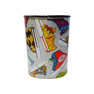Vintage Pop Art Sneaker Trash Can