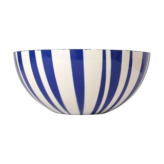 "Large 11"" Cathrineholm Blue and White Striped Bowl"
