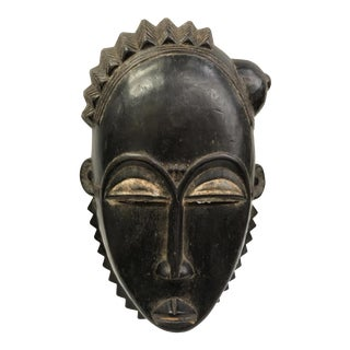 African Art Baule Mask From Ivory Coast