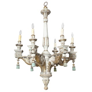 Polychromed & Parcel Gilt 18th/19th Century Wooden Chandelier