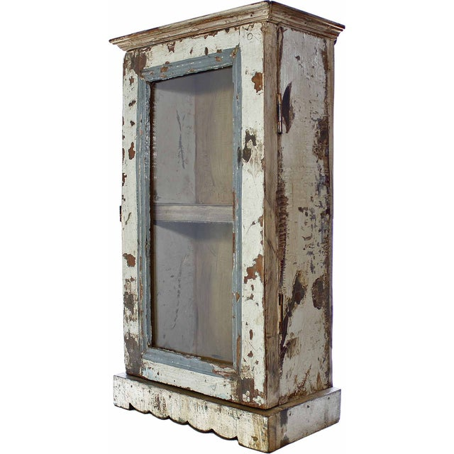 Light Gray Architectural Showcase Wall Cabinet - Image 1 of 3