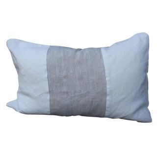 Belgian Linen White Lumbar Pillow