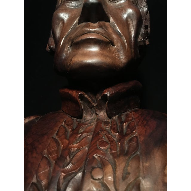 Circa 1970 Carved Wood Statue - Image 7 of 11