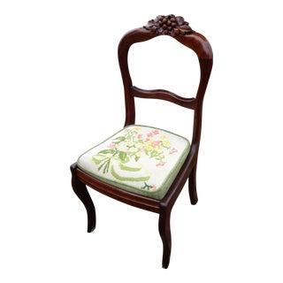 Balloon Back, Black Forest Walnut Hall Chair, 1880