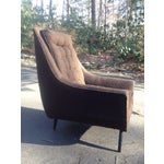 Image of Mid-Century Modern Tufted Brown Club Chair