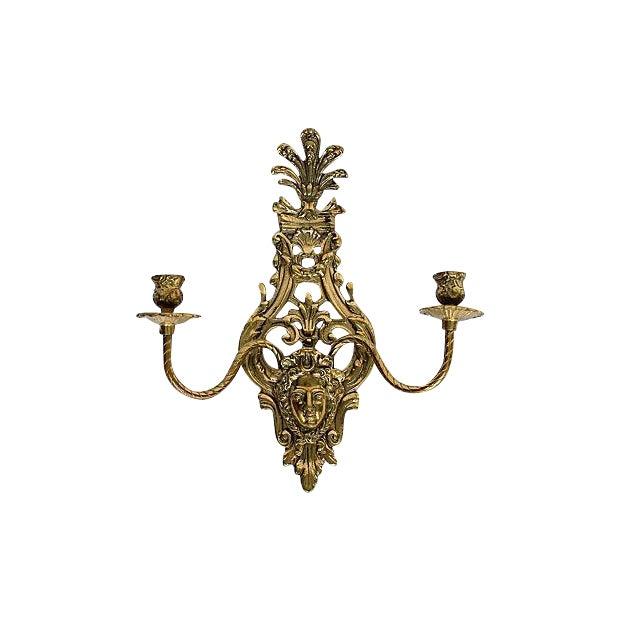 2-Arm Art Nouveau Candle Wall Sconce - Image 1 of 5