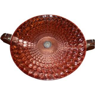 French Art Deco Glass Bowl