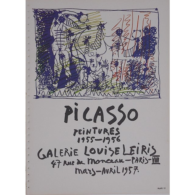 Image of Vintage Picasso Lithograph Folio Size C.1957