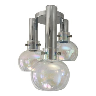 1950s Italian Blown Glass Ceiling Light