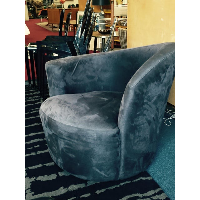 Art Deco Style Asymmetrical Swivel Chair Chairish