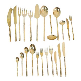 Bronze Bamboo Flatware, 100 Pcs.