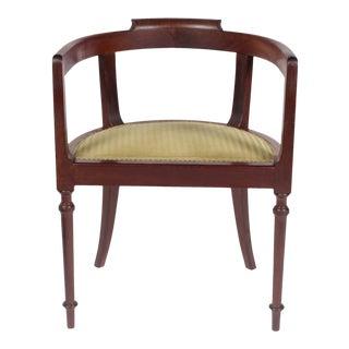 Vintage 1910 Walnut Desk Chair