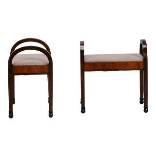 Pair of Art Deco Upholstered Benches