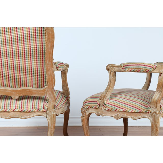 Antique 1920s French Style Armchairs - A Pair - Image 8 of 9