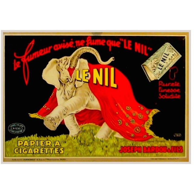 1930s French Le Nil Art Deco Tin With Tax Stamp - Image 1 of 1