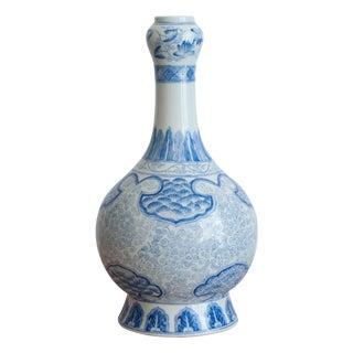 Large Maitland-Smith Blue & White Genie Vase