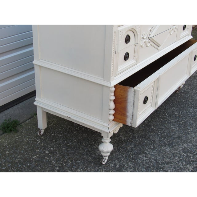 Image of Jacobean/Gothic Lowboy Chest of Drawers