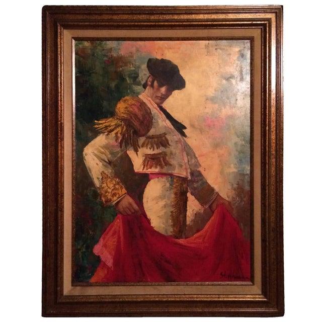 Image of Large Framed Matador Painting