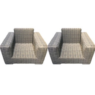 Restoration Hardware Majorca Outdoor Lounge Chairs - a Pair