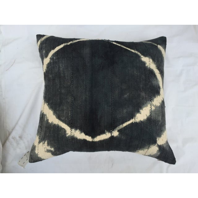 African Grey Tie Dye Mud Cloth Pillow - Image 5 of 6