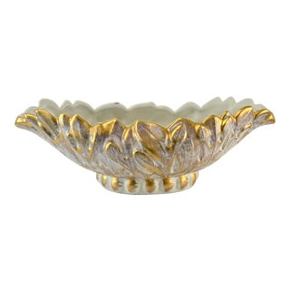 Haeger Gold Oval Bowl
