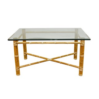 McGuire Reeded Bamboo Rectangular Dining Table