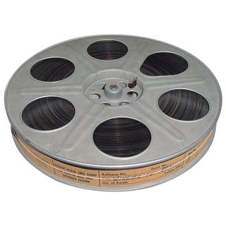 Vintage 35MM Movie Reel with Sound Motion Picture Film. Circa Mid 20th Century. Display As Sculpture