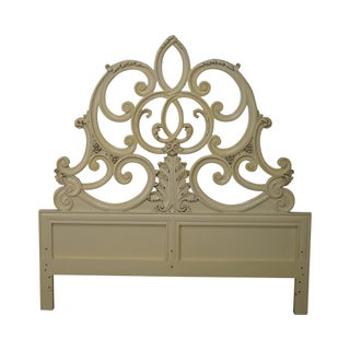 Vintage French Louis XV Style Queen Headboard