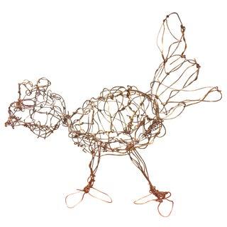 Wire Chicken Sculpture