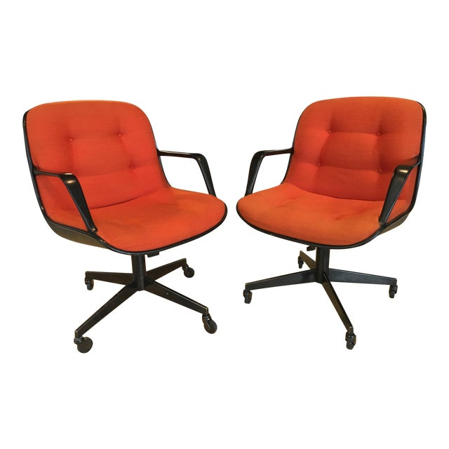 "Steelcase Rolling ""Pollack"" Swivel Office Chairs - Image 1 of 11"